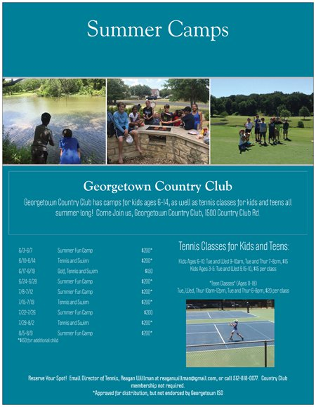 Georgetown Country Club Summer Camps