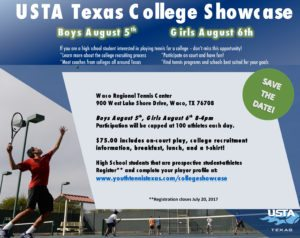 DEADLINE College Showcase Waco @ Waco Regional Tennis Center   Waco   Texas   United States