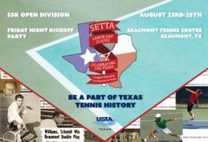 DEADLINE SETTA 100th Annual Labor Day Classic @ Beaumont Tennis Center