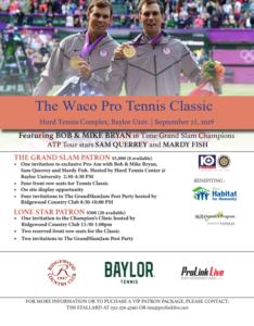 Waco Pro Tennis Classic @ Hurd Tennis Complex @ Baylor University